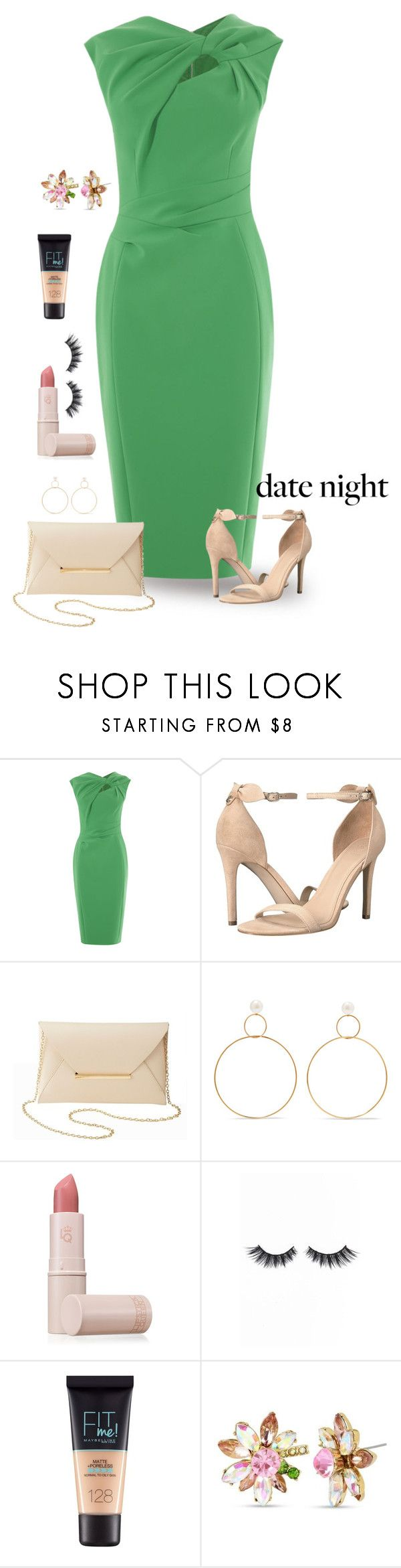 """Fresh"" by patricia-dimmick ❤ liked on Polyvore featuring GUESS, Charlotte Russe, Natasha Schweitzer, Lipstick Queen, Violet Voss, Maybelline, Betsey Johnson and summerdatenight"