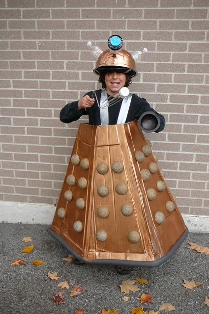"""chase's halloween? He insisted he was """"Dalek Jast"""" of the Cult of Skaro."""