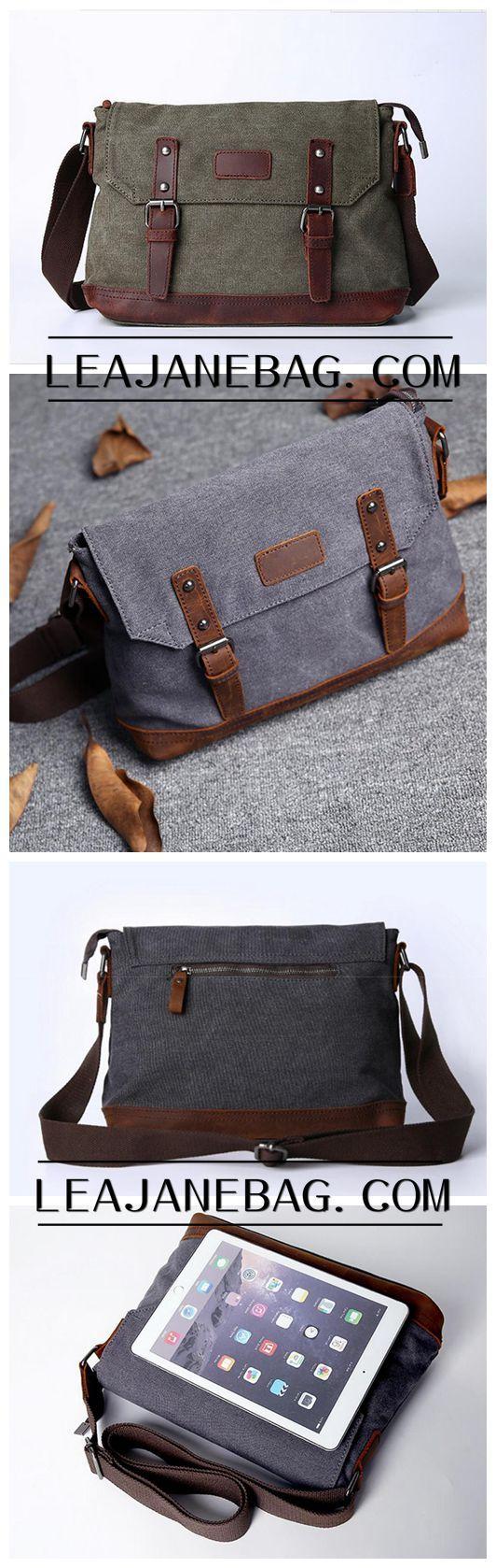 Satchel, Leather Satchel, Mens Satchel, Canvas Satchel, Satchel Men, Canvas Messenger Bag JC024