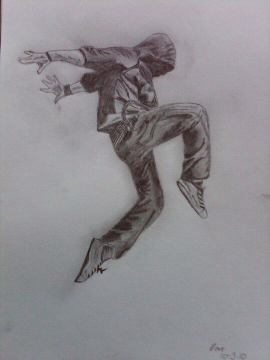 I drew this for a friend back in sixth form, few years back now. It's a dancer, requested by the giftee as he himself is a dancer. r.hattonx