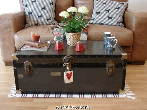 This wonderful 'Vintage' Mossman Storage Trunk is ideal for use in the home as a Coffie Table.