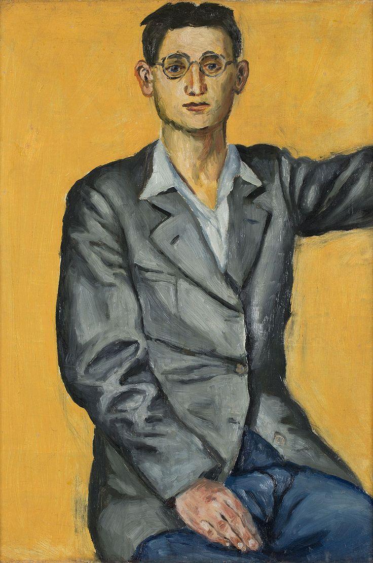 ANDRZEJ WRÓBLEWSKI (1927 - 1957)  AUTOPORTRET, 1949   olej, płótno / 92 x 62 cm  opisany na odwrocie: ANDRZEJ WRÓBLEWSKI/ AUTOPORTRET/ olej 1949 oraz napis odręczny na krośnie: nr kat. 17