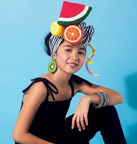 Vintage McCalls sewing pattern for Carmen Miranda Halloween hat. So great!