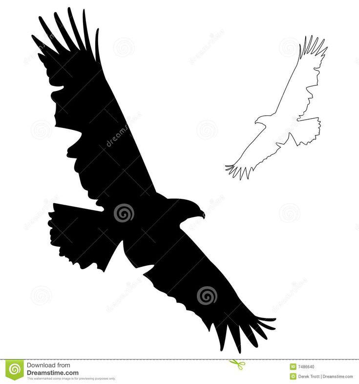 Flying Hawk Silhouette Eagle silhouette