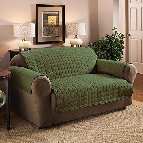 Perfect Furniture Protector   Quilted, Egyptian Quality, Durable   For SofaLove  Seat And Chair In Many Colors   Sofa, Sage. Sofa Measures: 110 Inch By 70.5  Inches.