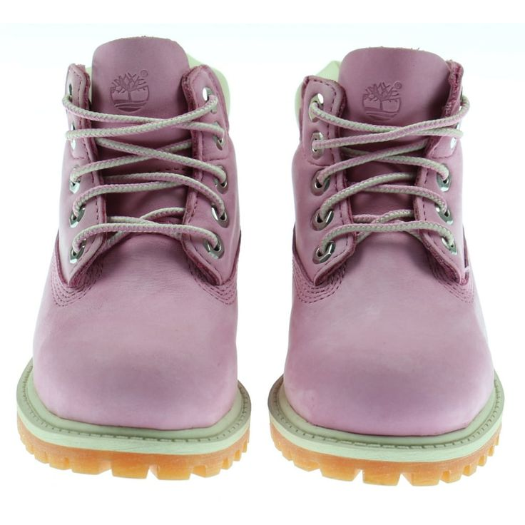 Girl's Pink High Top Boots with Padded Ankle Collar. Now available at www.chocolateclothing.co.uk