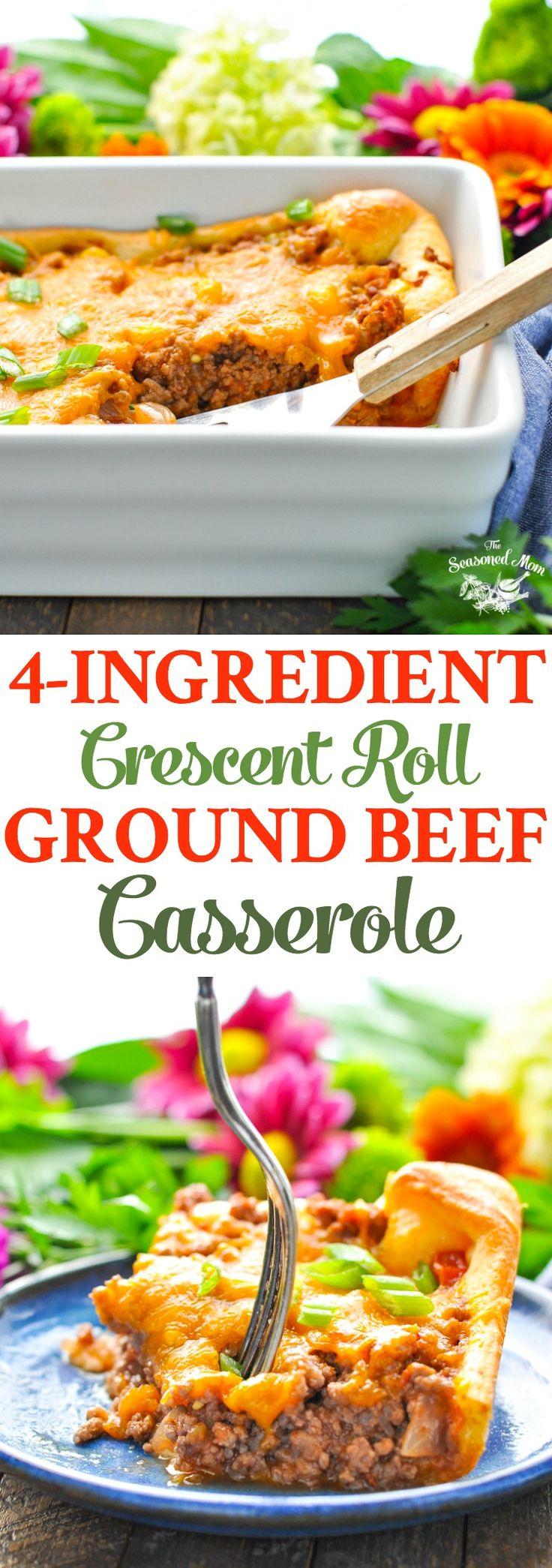 4-Ingredient Crescent Roll Ground Beef Casserole