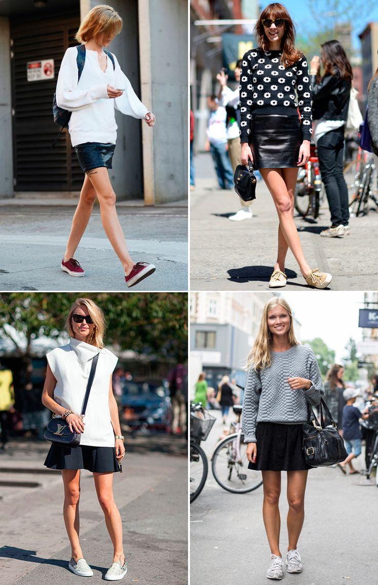 коллаж кроссовки юбки