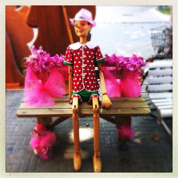 Anche Pinocchio e' entrato nel mood #notterosa, Bellaria @igersbologna