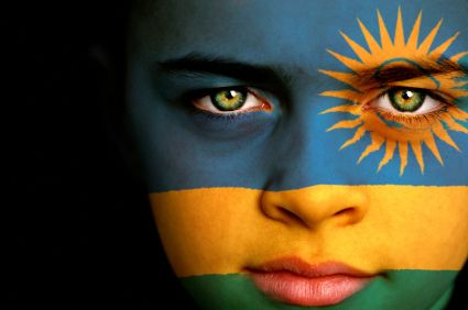 Rwanda flag boy by bugiri, via Flickr