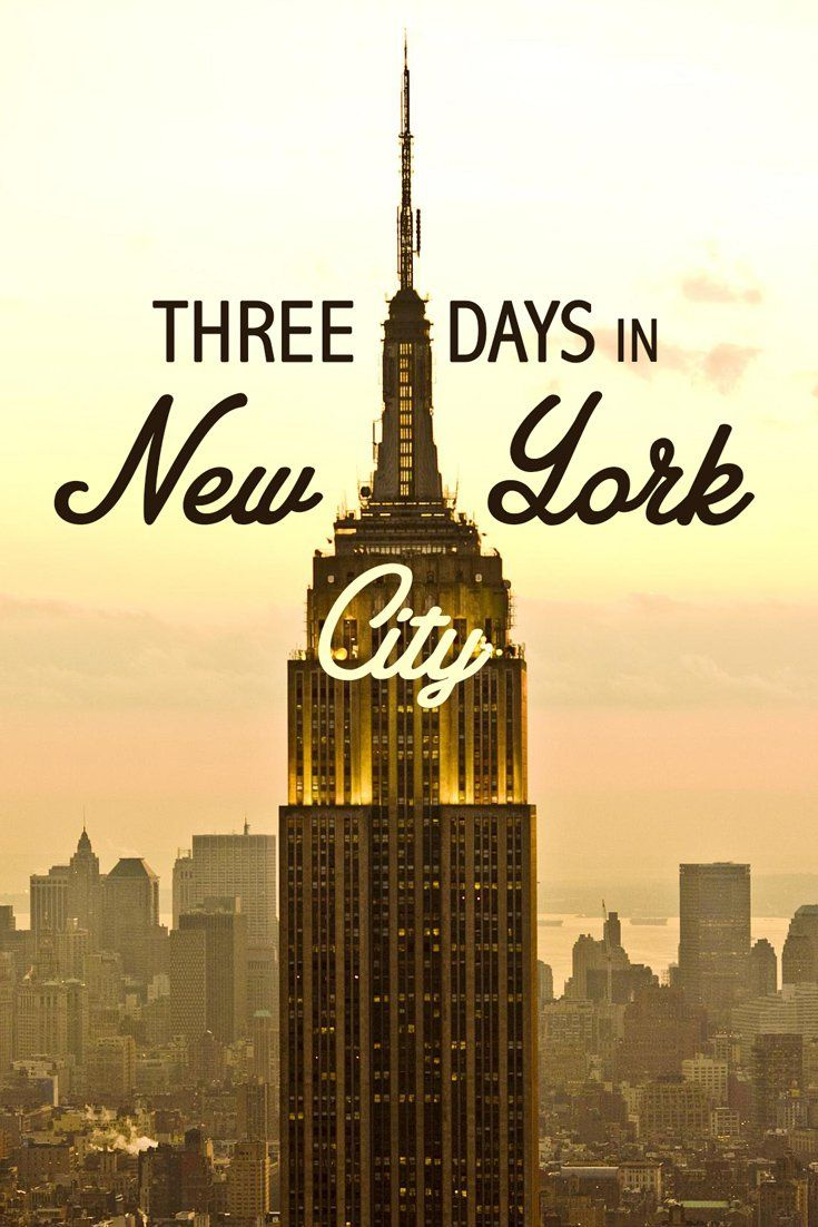 New York City is one of my favorite cities in the world. But if you only have 3 days to spend in this wonderful city, here are a few of my top suggestions.