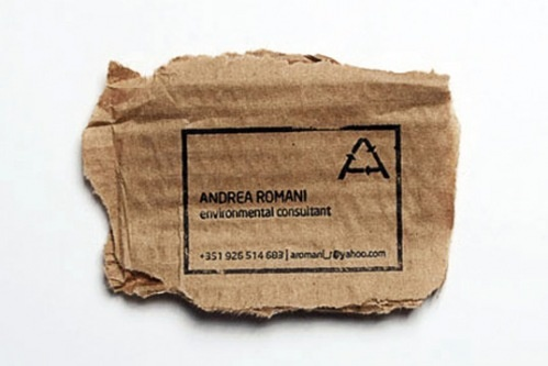 Andrea Romani environment-friendly business cards