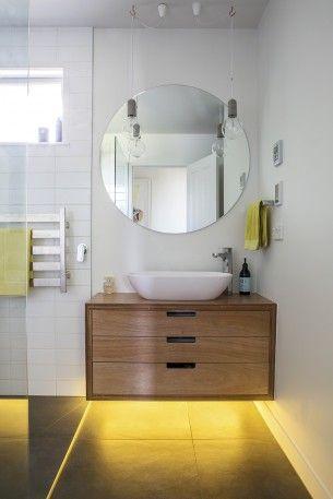 Wendy-like circular mirror vanity & height of window