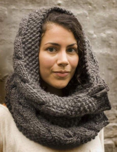I'm knitting this now, using 2 balls of chunky yarn at once and it's starting to look really neat.