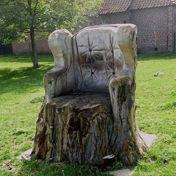9 best images about tree stump chairs on pinterest. Black Bedroom Furniture Sets. Home Design Ideas