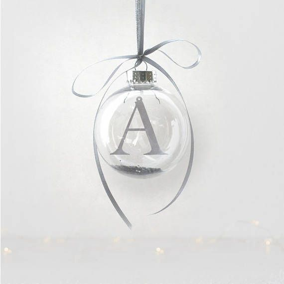 Personalised Papercut Initial Bauble  Christmas Letter