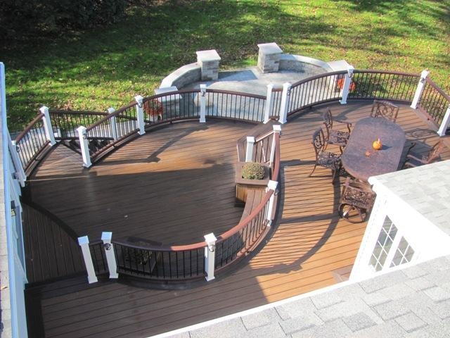 Love the curved #Trex railing on this deck!  Built by Amazing Decks Deck Builders, a TrexPro Platinum contractor in Ambler, Pa., serving Pennsylvania and New Jersey. Click on the photo above to see this contractor's website.