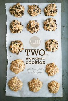 Two Ingredient Cookies (naturally gluten free, vegan and sugar free cookies)