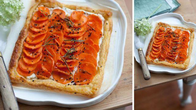 Tarte fine aux carottes