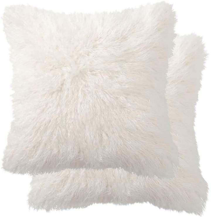 White Faux Fur Body Pillow Case Cover