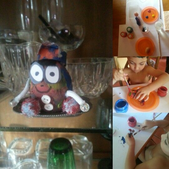 Egg craft fun for 3-4 year old