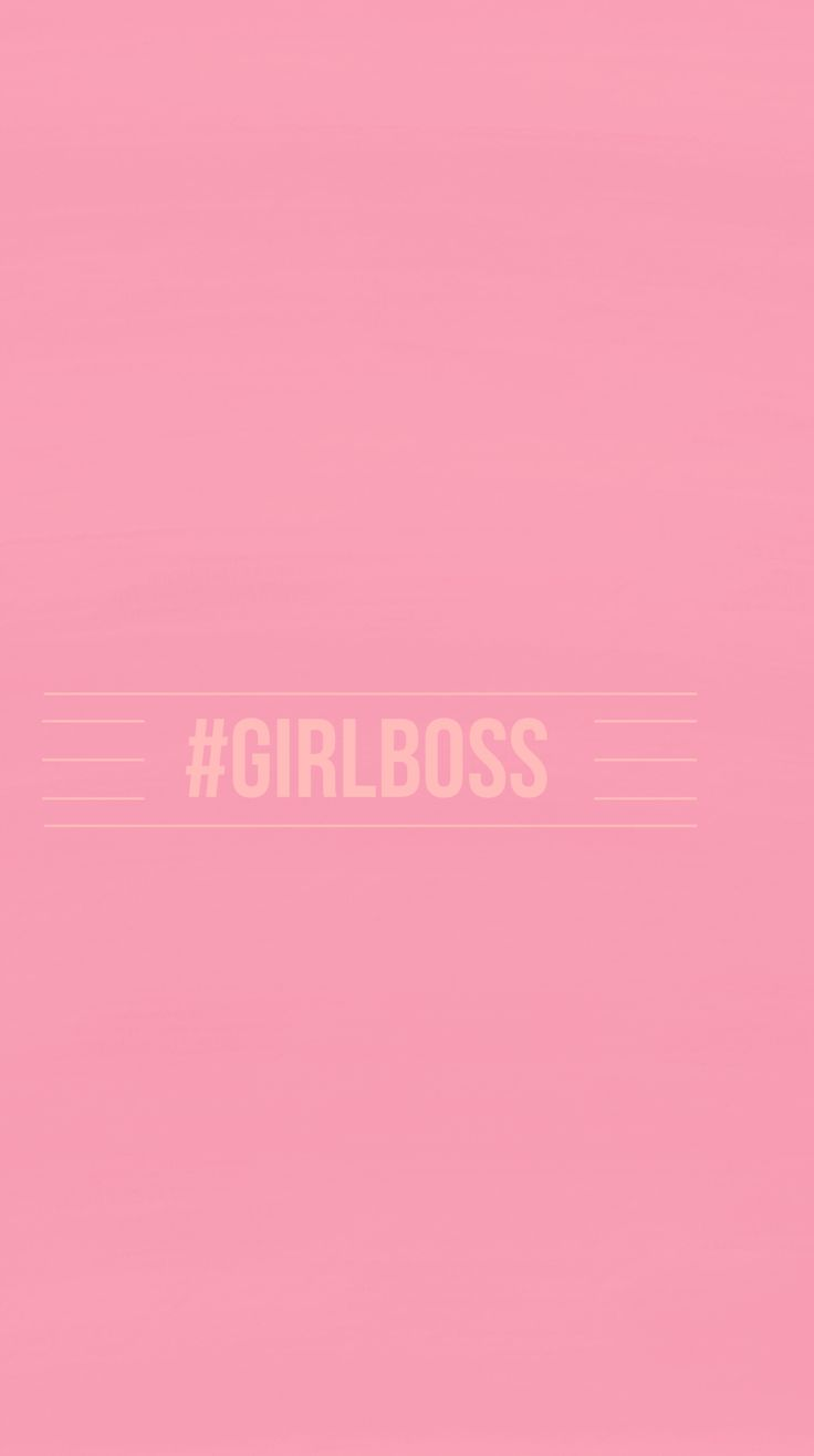 Pink #GIRLBOSS iPhone|Mobile Background @EvaLand