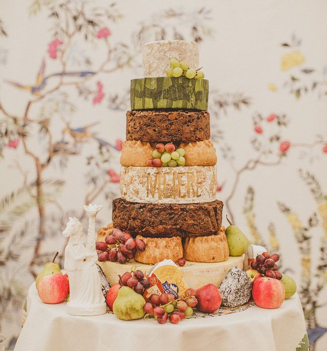 "food + drink | we're fans of the cheese wedding ""cake"" 