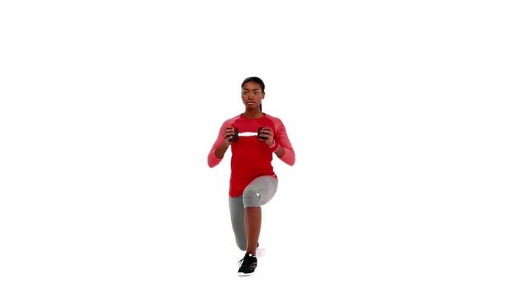 Afundo alternado com haltere : Quadríceps, Glúteos, Abdominais, Ombros, Bíceps, Corpo inteiro - MSN Saúde e Bem-estar