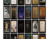 Tarot Cards, artistic set of 44 playing cards, 44 major arcana, limited ed., numbered