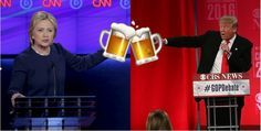 Your Official Drinking Game For The 2016 Presidential Debates