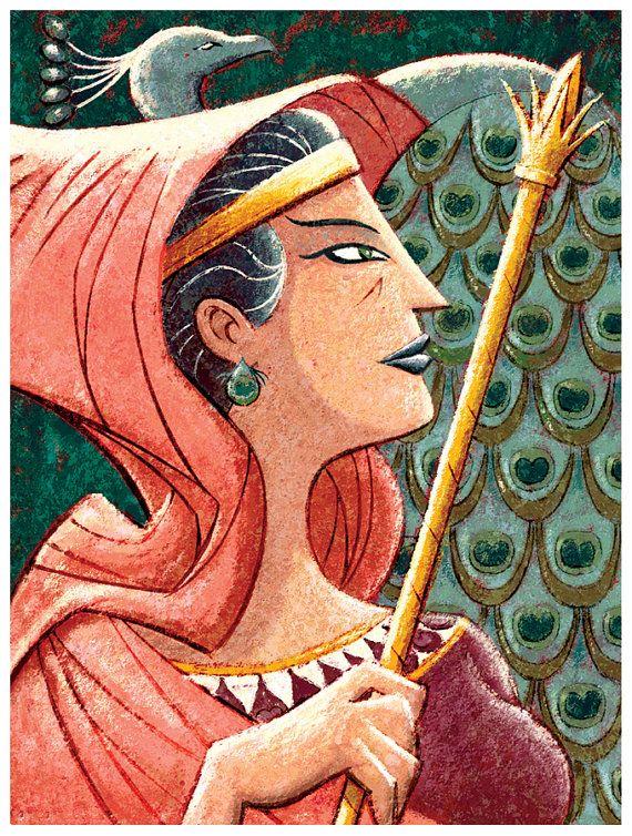 Dioses griegos  Hera 13 x 18 Print por glenmullaly en Etsy, $28.00