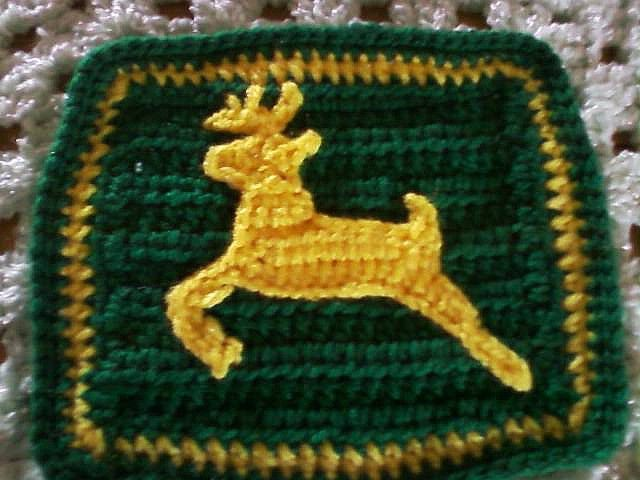 john deere stag logo applique square by blue_fox2002, via Flickr