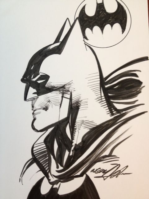 Neal Adams Batman, in aric shapiro's Neal Adams Comic Art Gallery Room