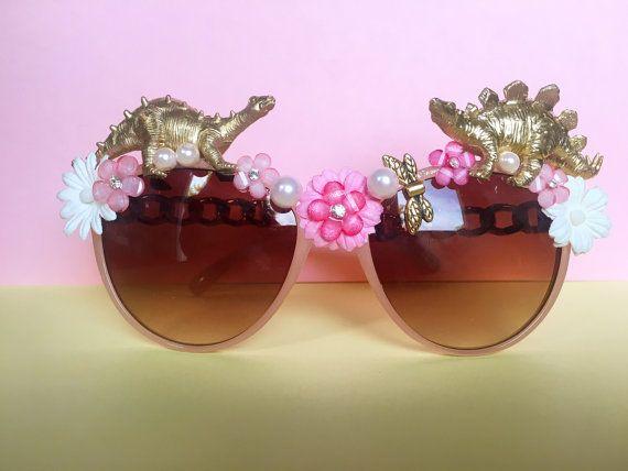 Embellished Dino Festival Sunglasses