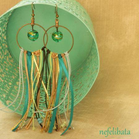 Gypsy Soul: boho chic handmade earrings - boho - boho chic - bohemian - ethno - jewelry - jewellery - ethnic - nefelibata - free - freedom - fringe - fringe earrings