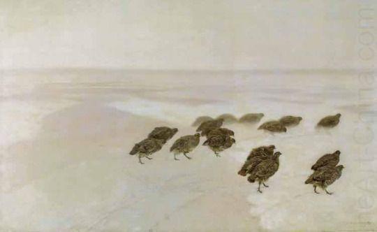 Józef Chełmoński - Partridges in the snow