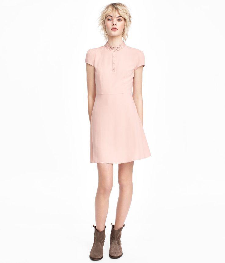 Crêpe Dress   Dusty pink   Women   H&M US