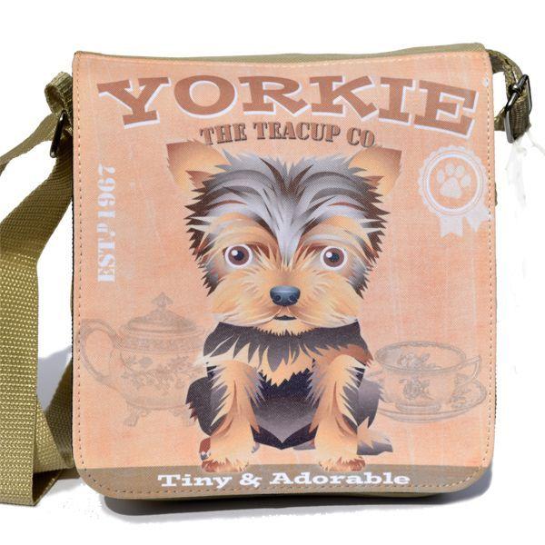 Yorkie kölyök táska