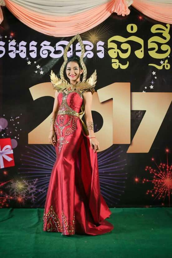 red fashion culture of cambodian