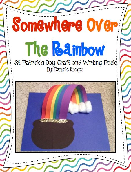 Rainbow craft and writing pack
