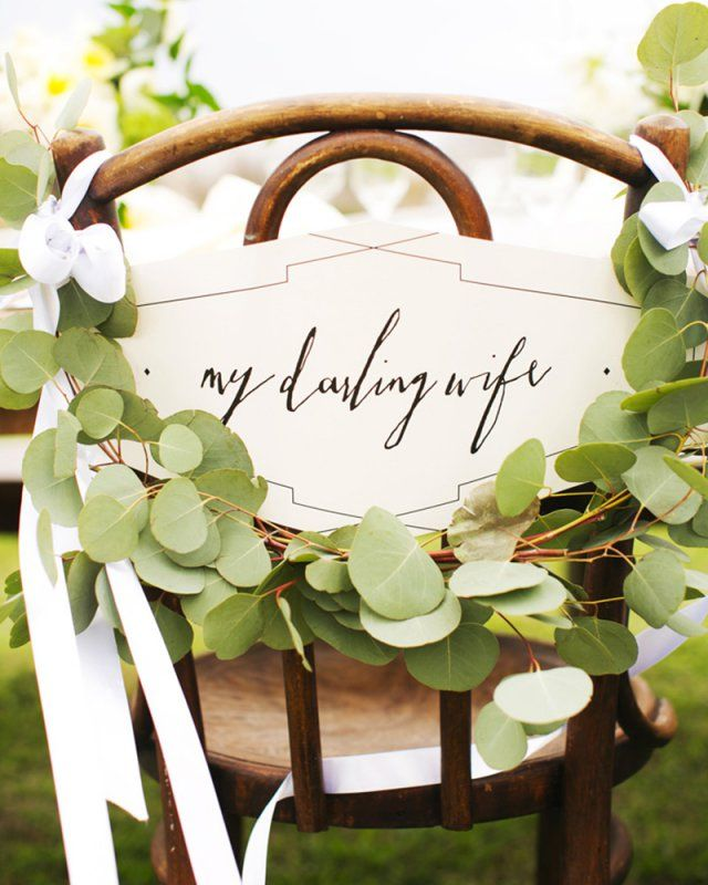 Wedding chair sign