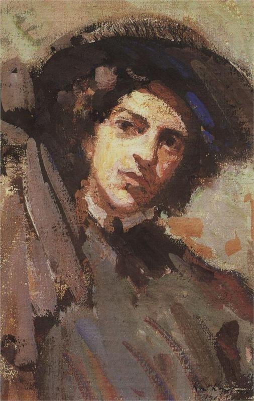 Konstantin Korovin (Russian 1861–1939) [Impressionism, Art Nouveau] Portrait of Nadezhda Komarovskaya, 1908. Russian Museum, St. Petersburg, Russia