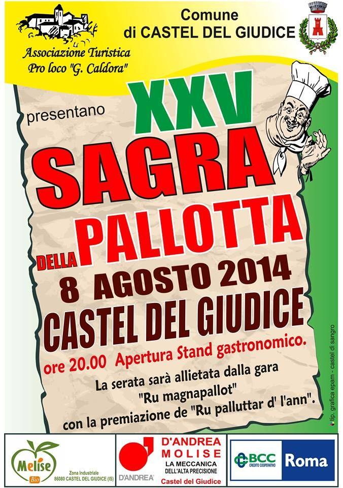 Sagra della Pallotta a Castel del Giudice (Isernia) l'8 Agosto 2014 organizzata dalla Pro Loco