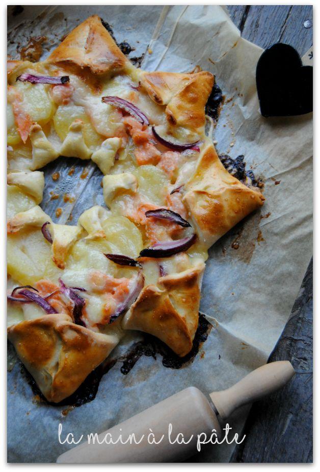 Pizza étoile saumon pommes de terre -