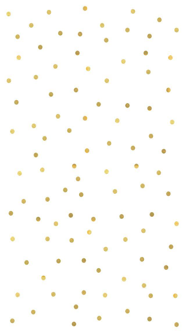 Small gold spots confetti dots iphone wallpaper background phone lockscreen