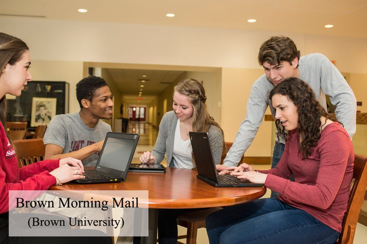 'Brown Morning Mail', it lists workshops, events, talks, volunteer opportunities for students BrownUniversity