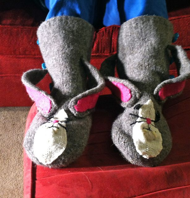 Wendy's bunny slippers