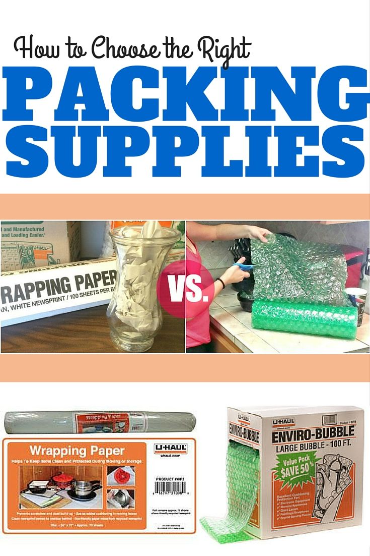 When preparing for a move, choosing the right packing supplies can be a bit difficult. Both of these supplies serve to protect your glassware and other delicate items, but when should you use one over the other? | Packing Tips