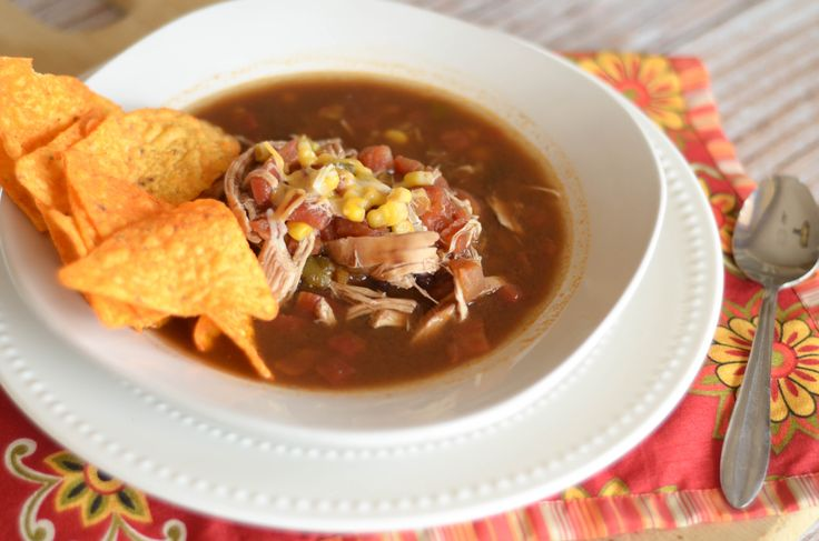 This Slow Cooker Chicken Taco Soup is a warm, delicious tasty soup that will be perfect any night of the week! It's great for a cold, winter day.