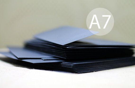 25 A7 Metallic Sapphire Blue Envelopes  Cobalt Blue by haSupplies